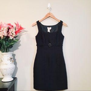 NWT MAX STUDIO Textured Black Mini Dress